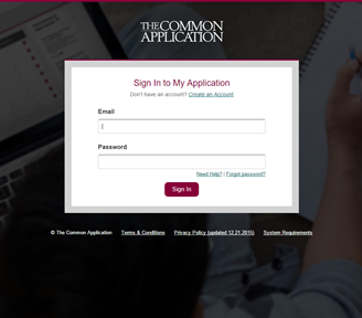 Common App Screenshot