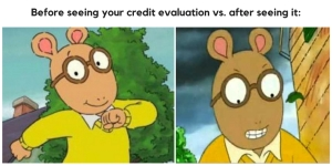 Credit Evaluation Meme